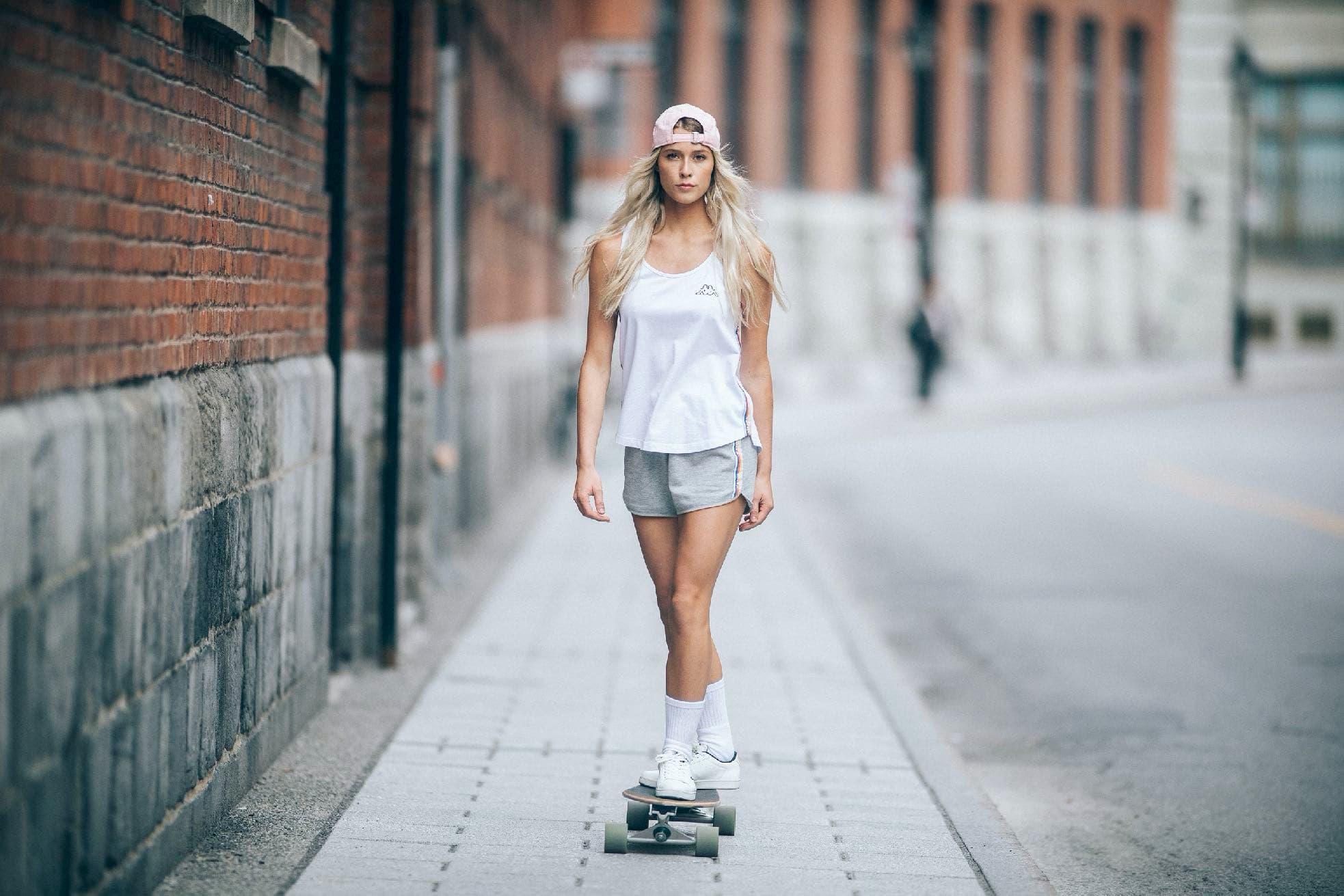 intersport shooting modeling sport skate longboard